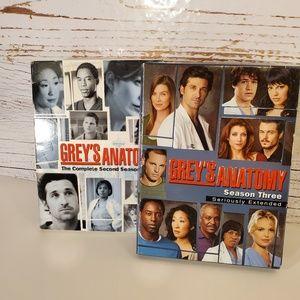 LIKE NEW Grey's Anatomy season 2 AND 3